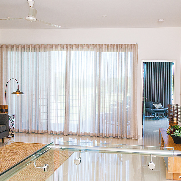 Sheer S-fold Curtains